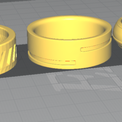 Download free STL Mens Ring 3 pieces, Fr3D