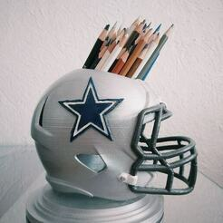 Cowboys 3.jpg Télécharger fichier 3MF NFL Dallas Cowboys Pencil Hull • Design à imprimer en 3D, RuVa_Printing