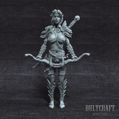 Download OBJ file Elf woman warrior • 3D printable model, Wildwildivan