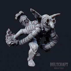 G_Firestarter_01.jpg Download OBJ file Goblin firestarter • 3D print template, Wildwildivan