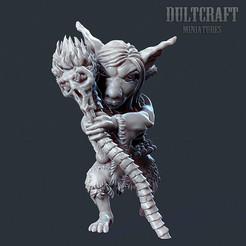 G_Shaman.jpg Download OBJ file Goblin shaman ver. 2 • 3D print model, Wildwildivan