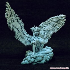 Download 3D printing models Athalia angel on a cloud, Wildwildivan