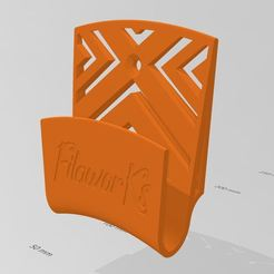 Mando Teclado.JPG Download free STL file TV remote control and TV Keyboard Holder • 3D printable model, FilaworKs