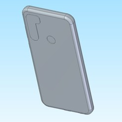 Note 8t back view.jpg Download STL file Xiaomi Redmi Note 8T in protect case • 3D printer design, jakubw0