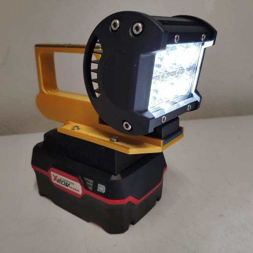 Download STL file LED flashlight with XTeam Parkside battery and/or USB charger • 3D printer model, josephs