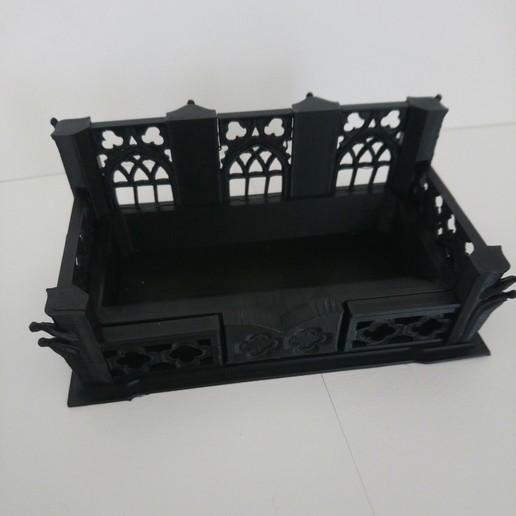 DSC_0655.JPG Download free STL file gothic inspired business card holder • 3D printing template, hicksadder