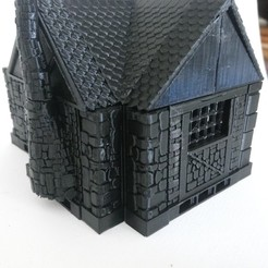 maison3.jpg Download free STL file medieval house kit compatible openlock 28 /32 mm • 3D printer design, hicksadder