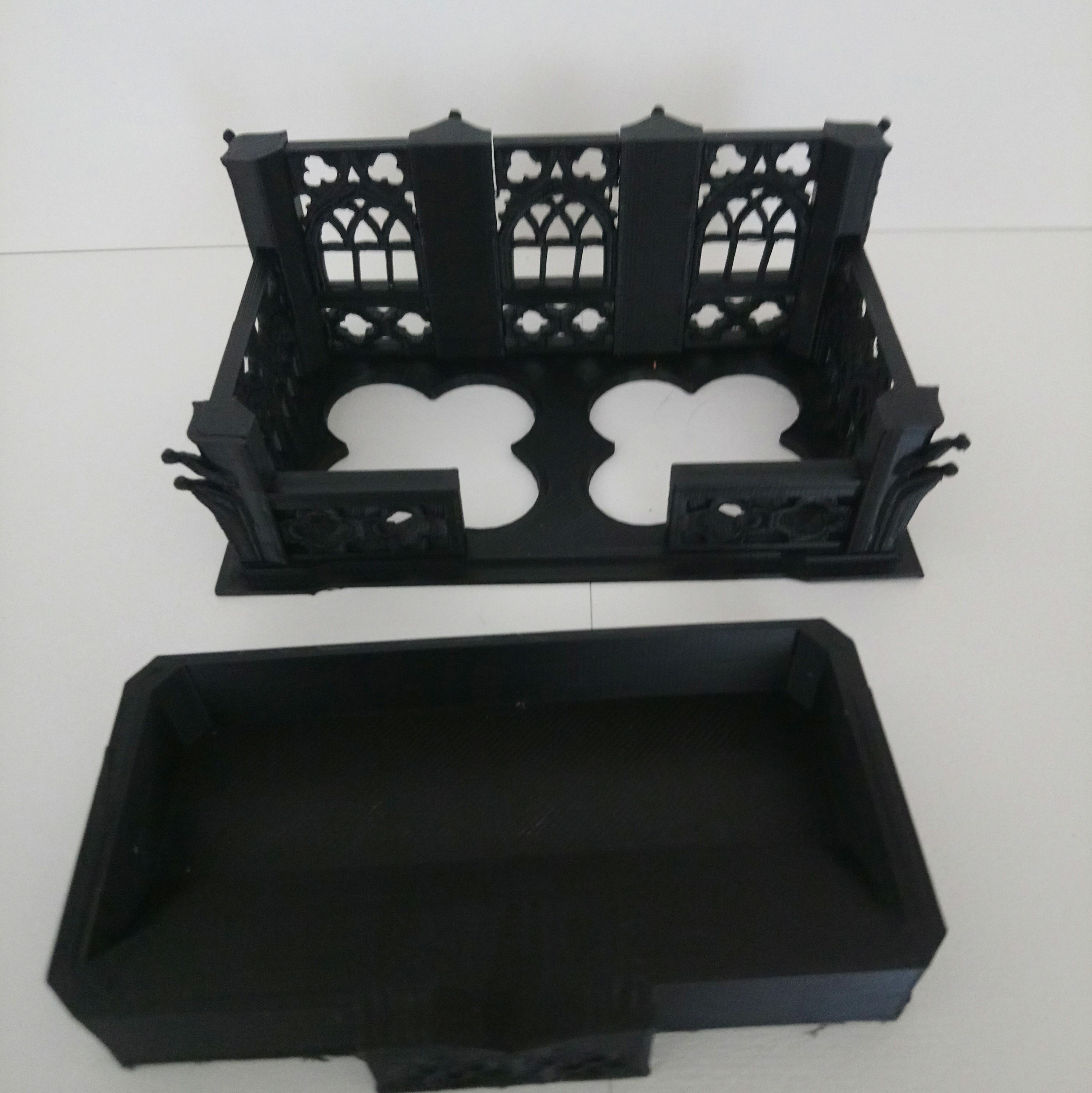 DSC_0654.JPG Download free STL file gothic inspired business card holder • 3D printing template, hicksadder
