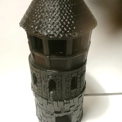 Download free STL file medieval tower compatible openlock • 3D printer template, hicksadder