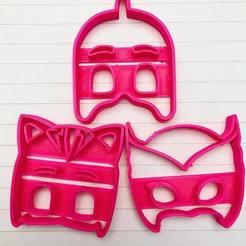 Descargar archivo 3D pj mask cookie cutter, ananda3d