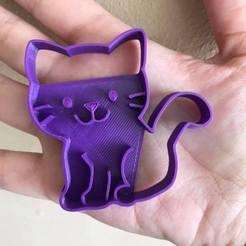 Descargar archivos 3D cat cookie cutter, ananda3d