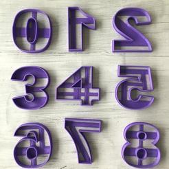 Descargar STL numbers cookie cutter, ananda3d