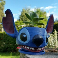 20201015_160942.jpg Download STL file Stitch, Lilo and Stitch, Disney Characters, 3D characters, Stitch Pot, Matera Stitch. • 3D print design, santiagocgart