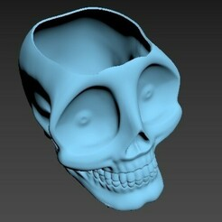 CraneoDsñ03_Matera001.jpg Télécharger fichier STL Pot, Matas, Succulentes, Crâne, Schädel, 頭骨 Tóugǔ, crânio, 頭蓋骨, crâne • Design pour impression 3D, santiagocgart