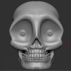 CraneoDsñ03_001.jpg Télécharger fichier STL Calavera, Skull, cranium, Schädel, 頭骨 Tóugǔ, crânio, 頭蓋骨, crâne • Objet pour imprimante 3D, santiagocgart