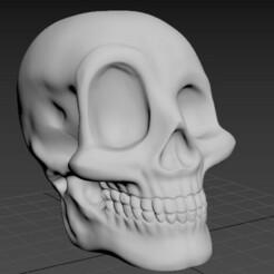 CraneoDsñ02_001.jpg Télécharger fichier STL Calavera, Skull, cranium, Schädel, 頭骨 Tóugǔ, crânio, 頭蓋骨, crâne • Objet pour imprimante 3D, santiagocgart