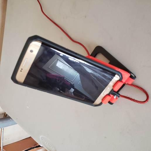 20200327_142047.jpg Télécharger fichier STL gratuit Téléphone / Interrupteur / Petit berceau de tablette • Design pour impression 3D, ScubaScott