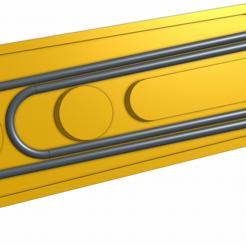 Download free 3D printer designs Zipper Pull using paperclip, ScubaScott