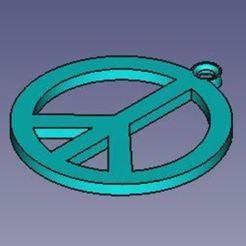 Download free STL Peace key ring, 3d_modelos