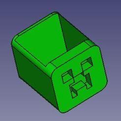 Imprimir en 3D gratis Porta lapices de Creeper, 3d_modelos