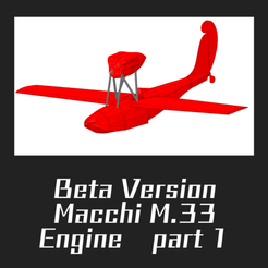 Download free STL file Macchi M.33 PART 1 • 3D printing model, FenixYeshua