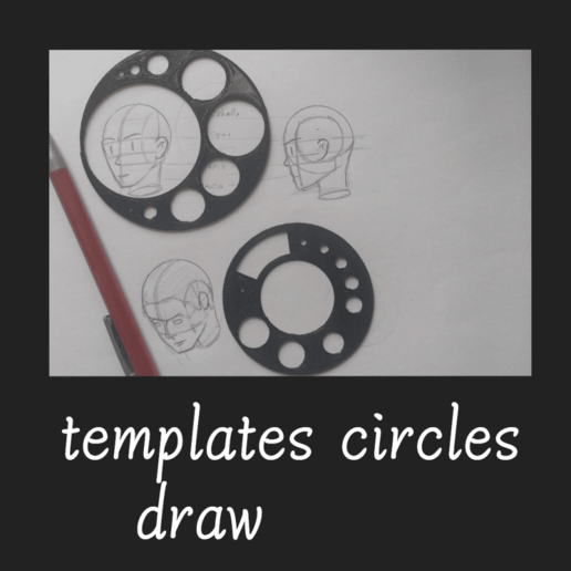 Download free STL file templates circles, draw • Template to 3D print, FenixYeshua