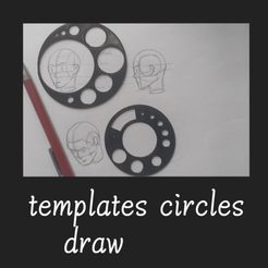Download free 3D model templates circles, draw, FenixYeshua