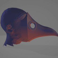 pestemask4.png Download STL file real size : Plague doctor mask • 3D printer design, FenixYeshua