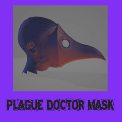 plage.png Download STL file real size : Plague doctor mask • 3D printer design, FenixYeshua