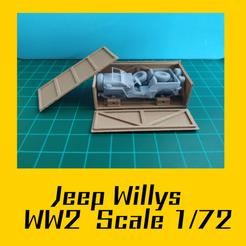 jeep.png Télécharger fichier STL Jeep Willys WW2 Modèle réduit 1/72 • Modèle pour imprimante 3D, FenixYeshua