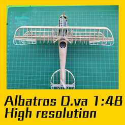 Download 3D printer designs ALBATROS D.VA  scale model1:48 , FenixYeshua