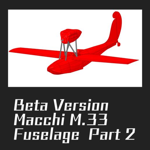Télécharger fichier STL gratuit Macchi M.33 PARTIE 2 • Objet pour imprimante 3D, FenixYeshua