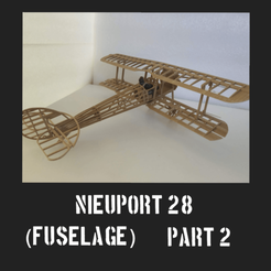 Download free STL file Nieuport 28 Part 2 • 3D printable template, FenixYeshua