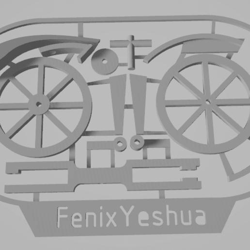 davincisbike3.png Télécharger fichier STL gratuit Vélo Davincis (carte de visite) FenixYeshua • Design pour impression 3D, FenixYeshua