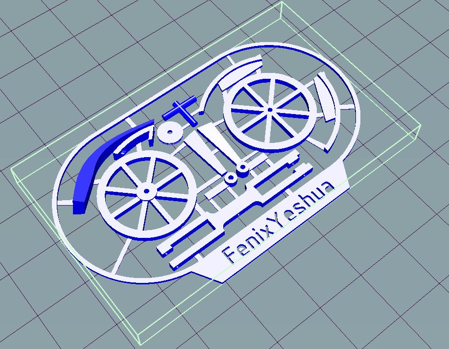 davincisbike2.png Télécharger fichier STL gratuit Vélo Davincis (carte de visite) FenixYeshua • Design pour impression 3D, FenixYeshua