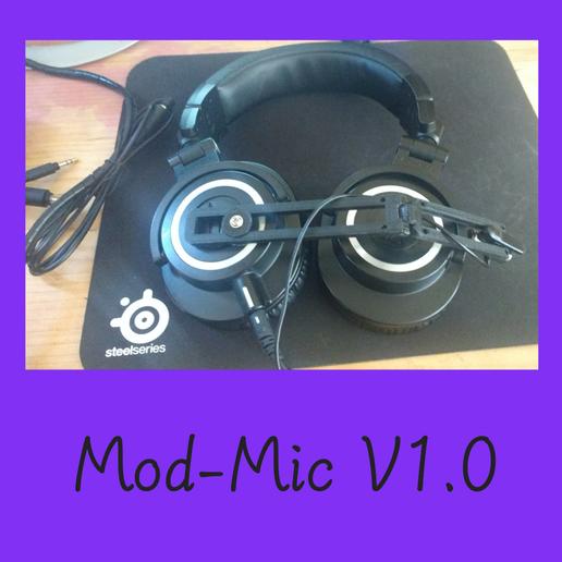 Télécharger fichier STL gratuit ModMic, jeux, microphone, casque, Sony ECM-CS3, pilote • Plan pour impression 3D, FenixYeshua