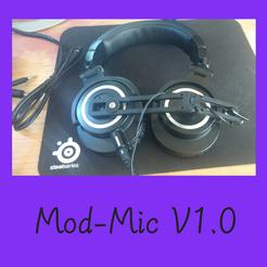 Télécharger fichier STL gratuit ModMic, jeux, microphone, casque, Sony ECM-CS3, pilote, FenixYeshua