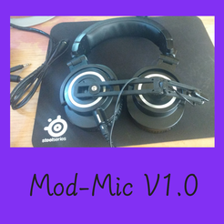 Download free STL file ModMic, gaming, microphone, headset, Sony ECM-CS3, pilot • Template to 3D print, FenixYeshua