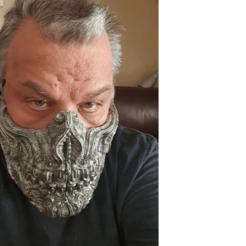 Download STL file Biomechanical Half mask • 3D printing model, ruzzzx9