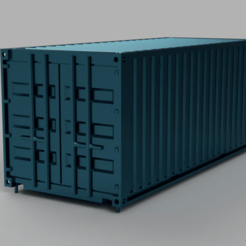 Download free STL file HO scale container 20ft (piko-compatible) • 3D print object, positron
