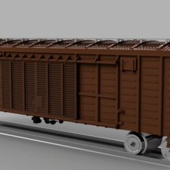 Download free STL file Russian boxcar series 11-270, HO scale • 3D printing model, positron