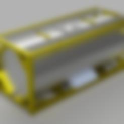 Télécharger fichier STL gratuit Conteneur-citerne de 20 pieds à l'échelle HO • Modèle pour impression 3D, positron
