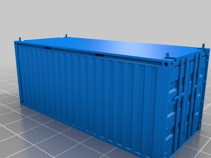 c394bc68b74da0c8dc8fd052d573d22d.png Download free STL file HO scale container 20ft (piko-compatible) • 3D print object, positron