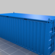 Download free 3D printing designs HO scale container 20ft (piko-compatible), positron