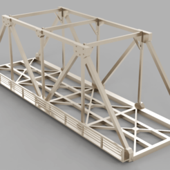 Download free 3D printer designs HO scale railway bridge, positron