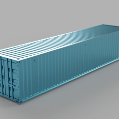 Download free STL file HO scale container 40ft (piko-compatible) • 3D printing object, positron