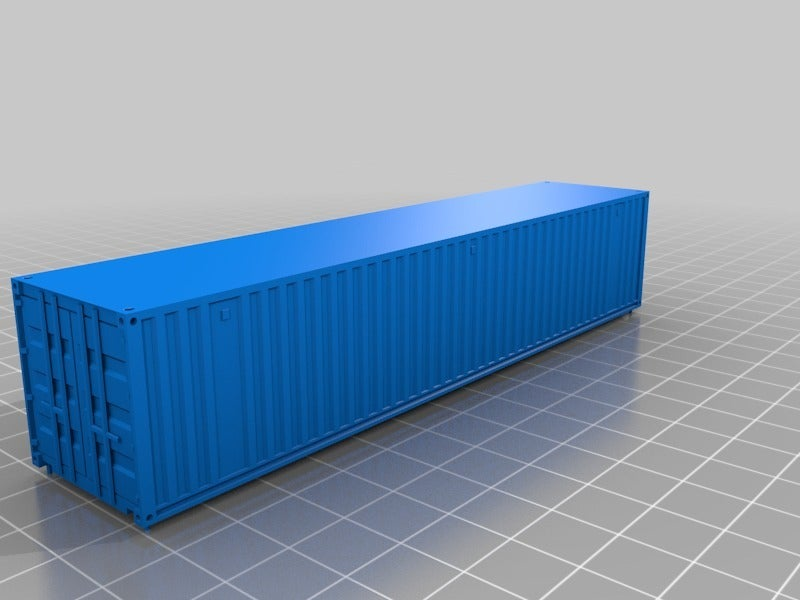 edf242baa946509ef334091a493501ad.png Download free STL file HO scale container 40ft (piko-compatible) • 3D printing object, positron