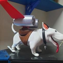 Imprimir en 3D gratis Máquinas atrevidas: El perro de Margo llamado Eddie, marioduranfernandez1969