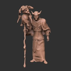 Bestidk.jpg Download OBJ file Tiefling Warlock • 3D printable template, VnBArt