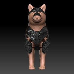 Front.jpg Télécharger fichier OBJ Compagnon du Doggo blindé / Chien blindé • Plan à imprimer en 3D, VnBArt